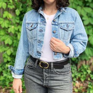 Vintage 90s Lee Cropped Jean Jacket